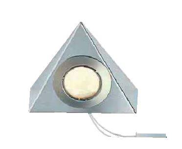 eclairages spot triangle sans interrupteur lumiere chaude inox bross. Black Bedroom Furniture Sets. Home Design Ideas